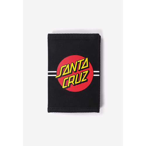 Santa Cruz - Classic Dot Velcro Wallet - Black