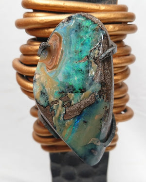 Opal & Iron Sculpture Series