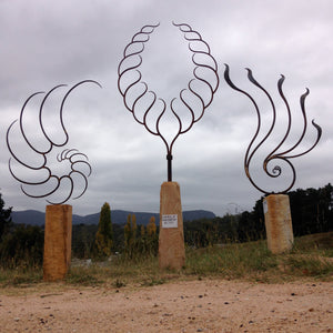 Forged Iron Garden Art