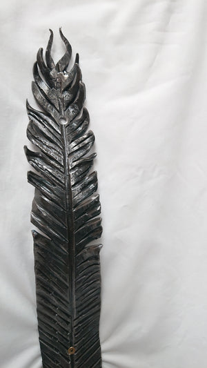 """Feather"",  Coat Hook, with crystal"