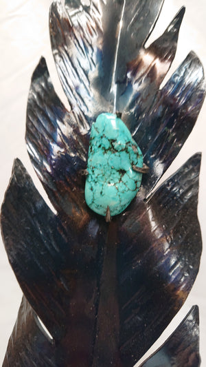 Feather With Turquoise