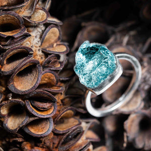 Untamed Ring - Aquamarine Bezel Setting