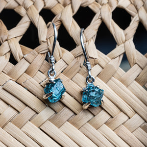 Untamed Drop Earrings  - Apatite Claw Setting