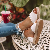 2lovit Peep Toe Ankle Strap Sandals