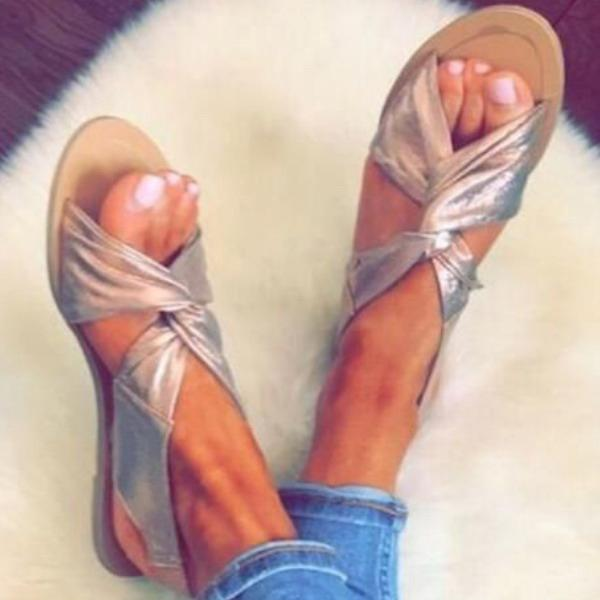 2lovit Criss Cross Knot Sandals