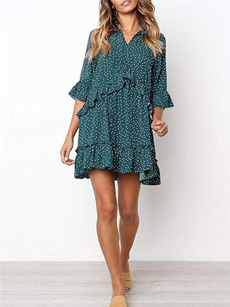 2lovit Ruffle Dot Printed Dress