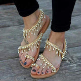 2lovit Leather Sandals Pearls Shoes
