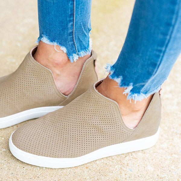 2lovit Slip-On Round Toe Breathable Sneakers