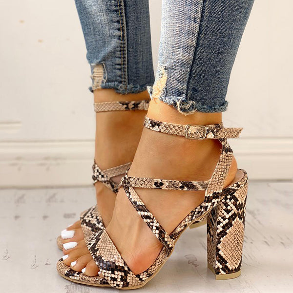 2lovit Women Snake-printed Fashion Sandals