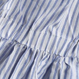 2lovit Stripe Off Shoulder Ruffle Dress
