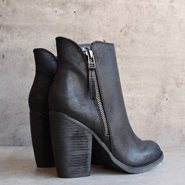 2lovit Women Fashion Chunky Boots