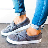2lovit Women Bowknot Loafers Casual Shoes
