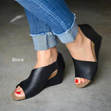 2lovit Women Summer Vintage Wedge Sandals