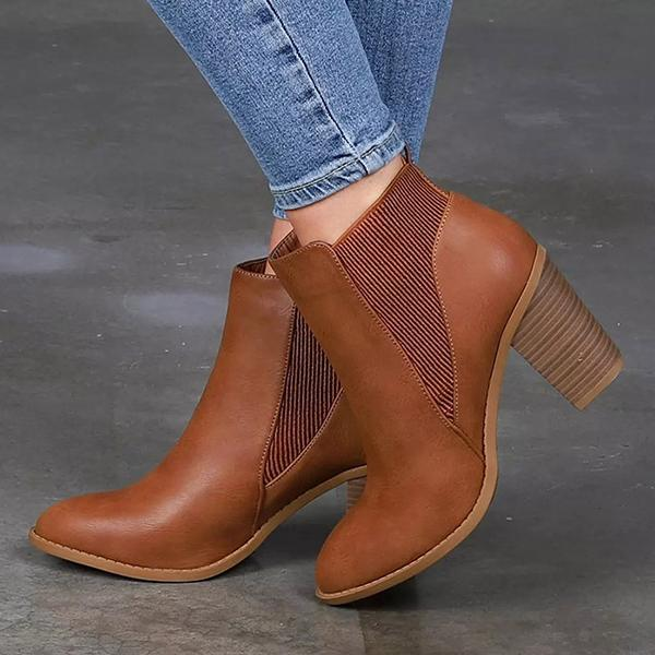2lovit Pull-on Chunky Heel Booties