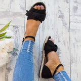 2lovit Ankle Strap Flats Lace Up Shoes
