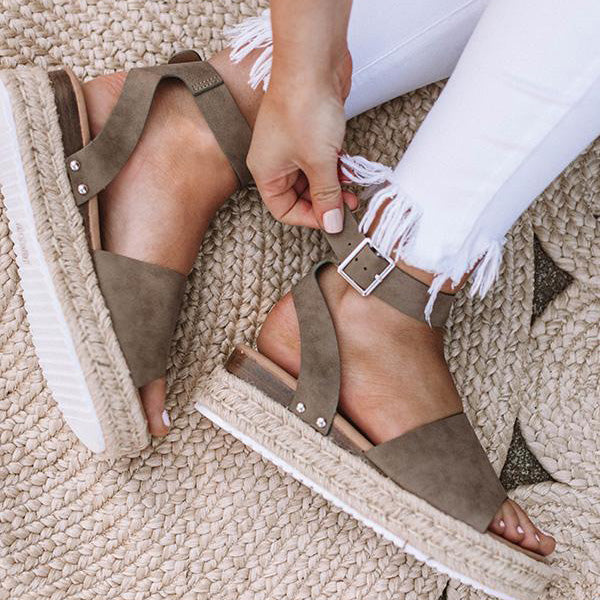 2lovit Women Summer Espadrille Sandals