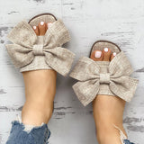 2lovit Women Casual Bow Flat Slippers