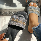 2lovit Open Toe Studded Slippers