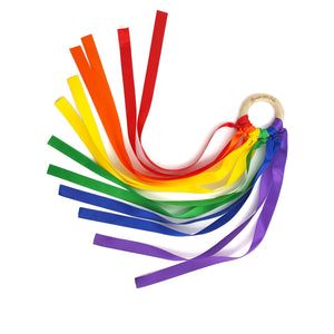 Ribbon Wands from Mouse Loves Pig are really Waldorf Hand Kites available in a rainbow of colors