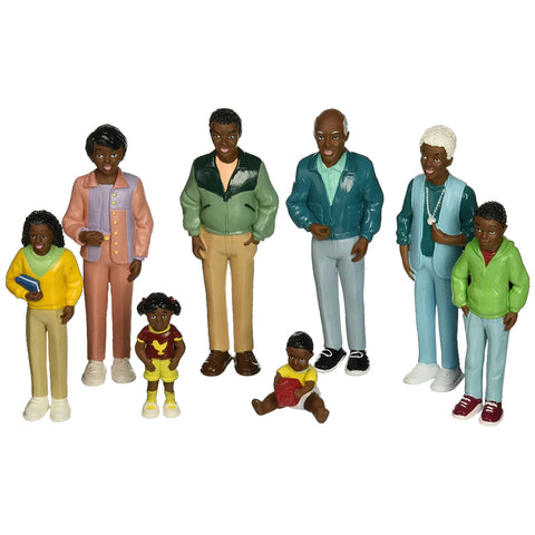 African American Family Play Set