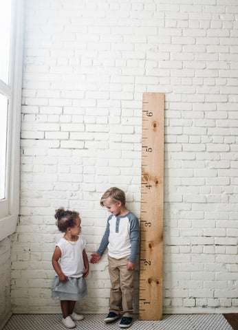 Wooden Growth Chart from White Loft