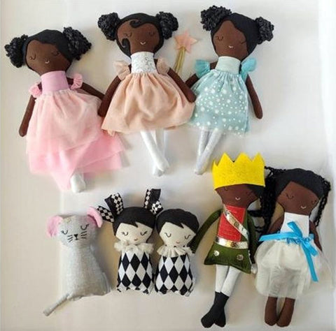 Nutcracker Ballerina Soft Doll Set from Doodle Daisy Shop
