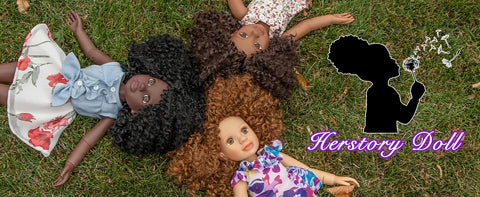 "Her Story Dolls - 18"" African American Girl Dolls"
