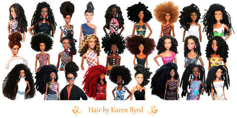 African American dolls with natural black hairstyles from Natural Girls United