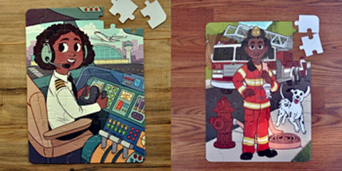 Puzzles with black kids from Puzzle Huddle
