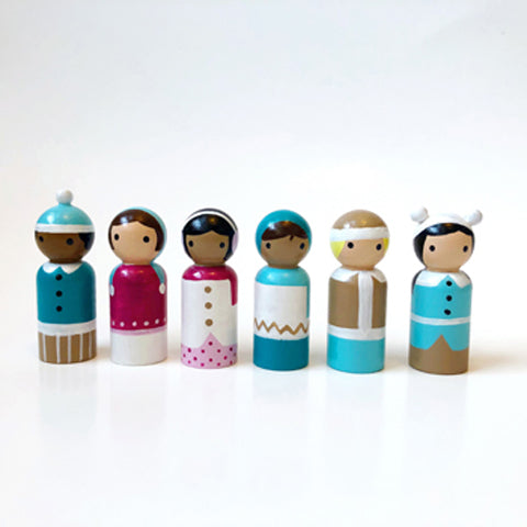 Multi-cultural dolls from Tiffany Lee Studios