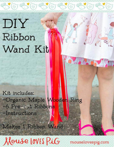 DIY Ribbon Wand Kit - Mouse Loves Pig