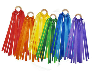 Set of 6 Waldorf Hand Kites in Rainbow Colors