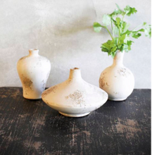 Antique vases distressed vessels white terracotta vases Modern farmhouse decor grange vintage cottage chic french country white shabby chic