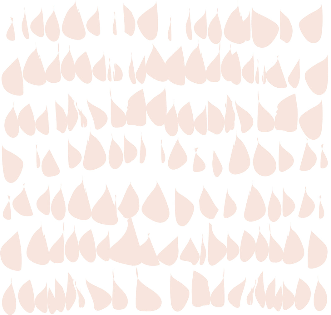 Blush Removable Wallpaper Wall Decor MADE IN USA Peel & Stick Self Adhesive Temporary Pale Pink Dogwood Drops Light Pink Millennial Pink