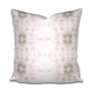 Blush Pink Pillow Soft Grey and White Pillow Subtle Cotton or Belgian Linen Throw Accent Lumbar Long Watercolor Soft dogwood bohemian