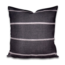 White Stripe Gray Pillow Cover Thin stripe grey pillow Lumbar, gray white stripe, black pillow cream stripe, grey white striped pillows boho