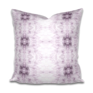 Lavender pillow Light purple Pillow Soft lavender and White Pillow Subtle Cotton or Belgian Linen Throw Accent Lumbar Long Watercolor violet