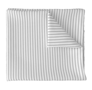 French Ticking Roman Shades CUSTOM size striped roman shades kitchen window shades grey stripe roman shade stripes ticking window shade blue