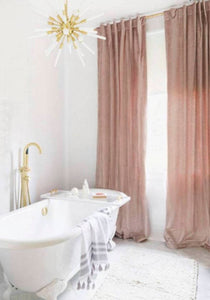 Blush Velvet curtains pink velvet drapes panels pink velvet curtains contemporary curtains blush or rose pink extra long curtains coral pink