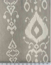 Ikat curtains beige or gray custom curtains neutral curtains tan extra wide extra long curtain panel pleated grommet clip ring damask grey