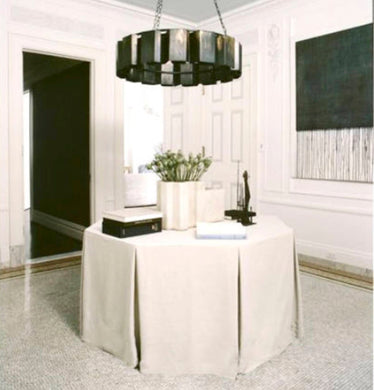 Round table skirt pleated box pleats white, ivory, navy, pink or any color table skirt round tableskirt pleats tailored round table cloth