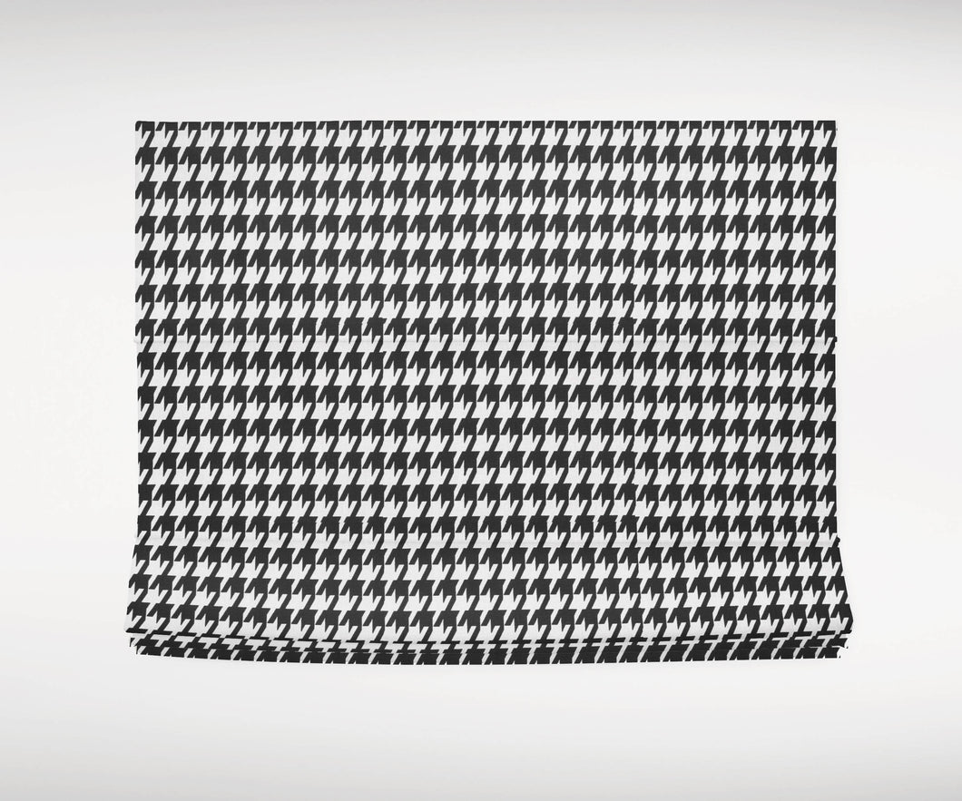 Houndstooth Roman shades black and white roman shades cordless shade window shades black farmhouse window shades houndstooth curtains long