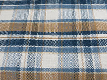 Window seat cushion cover plaid cushion cover buffalo check bench seat cover blue brown plaid window bench cover custom sizes blue plaid