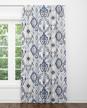 Blue ikat curtains blue grey curtains dining room curtains blue ethnic curtains navy gray curtains long ikat drapes curtains grey walls blue