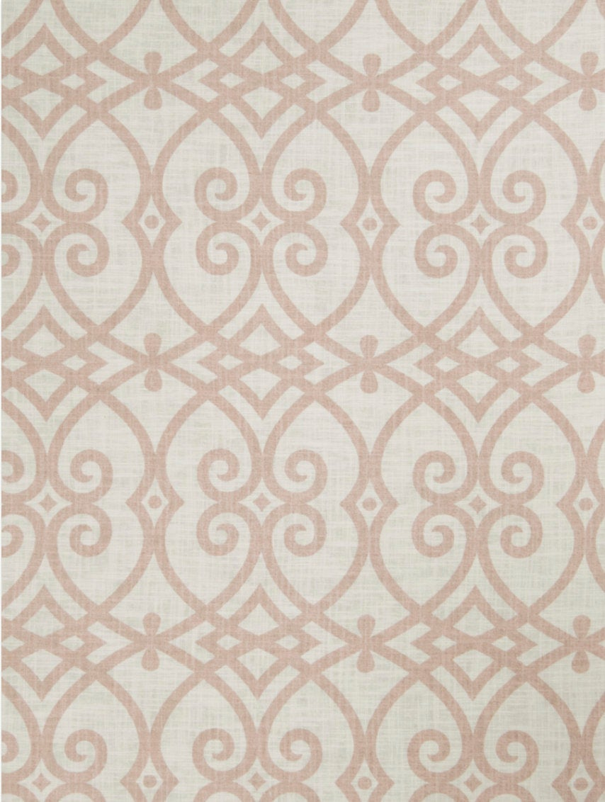Blush curtains lattice curtains Jaclyn Smith curtain panels extra long Aparna curtains pale pink curtains pleated fretwork curtains trellis