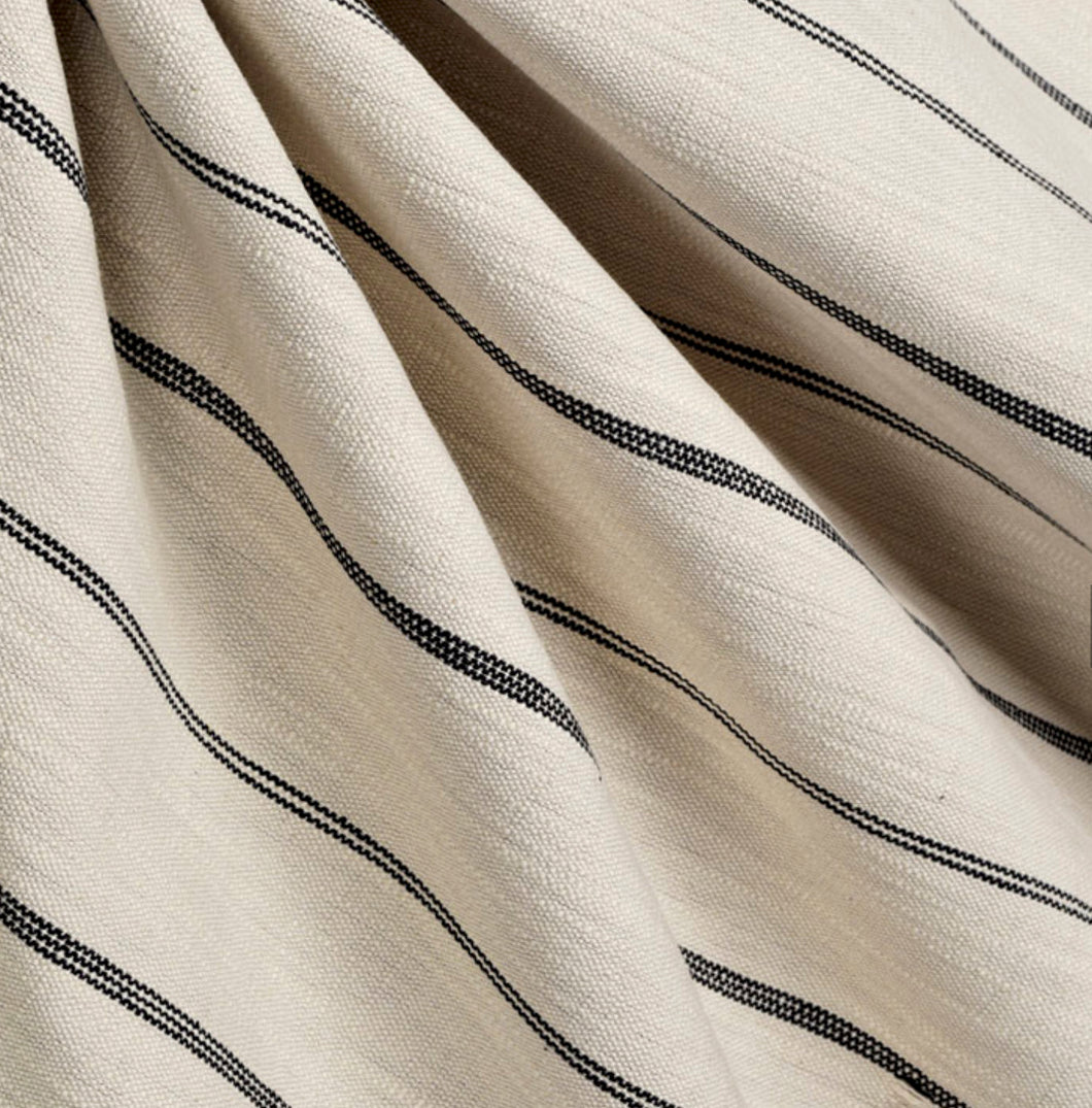 Modern farmhouse curtains linen country farmhouse curtains striped curtains custom curtain panel burlap curtains black white stripe curtains