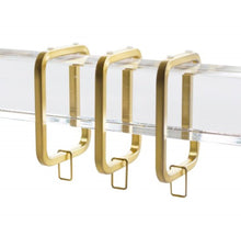 Lucite Rod Curtain Rings Rod Brass Square Rod Rings Gold Curtain Square Rings gold clear Acrylic Curtain Rings curtain rings clear lucite