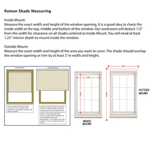 CUSTOM ROMAN SHADE blackout classic flat bottom outside mount cordless roman shade
