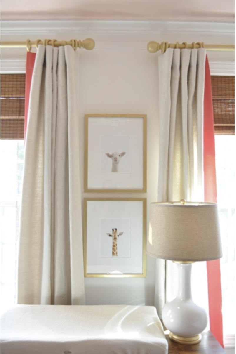 Nursery Curtains Pink Coral Curtains For Nursery Trimmed Drapes Curtai Jll Home