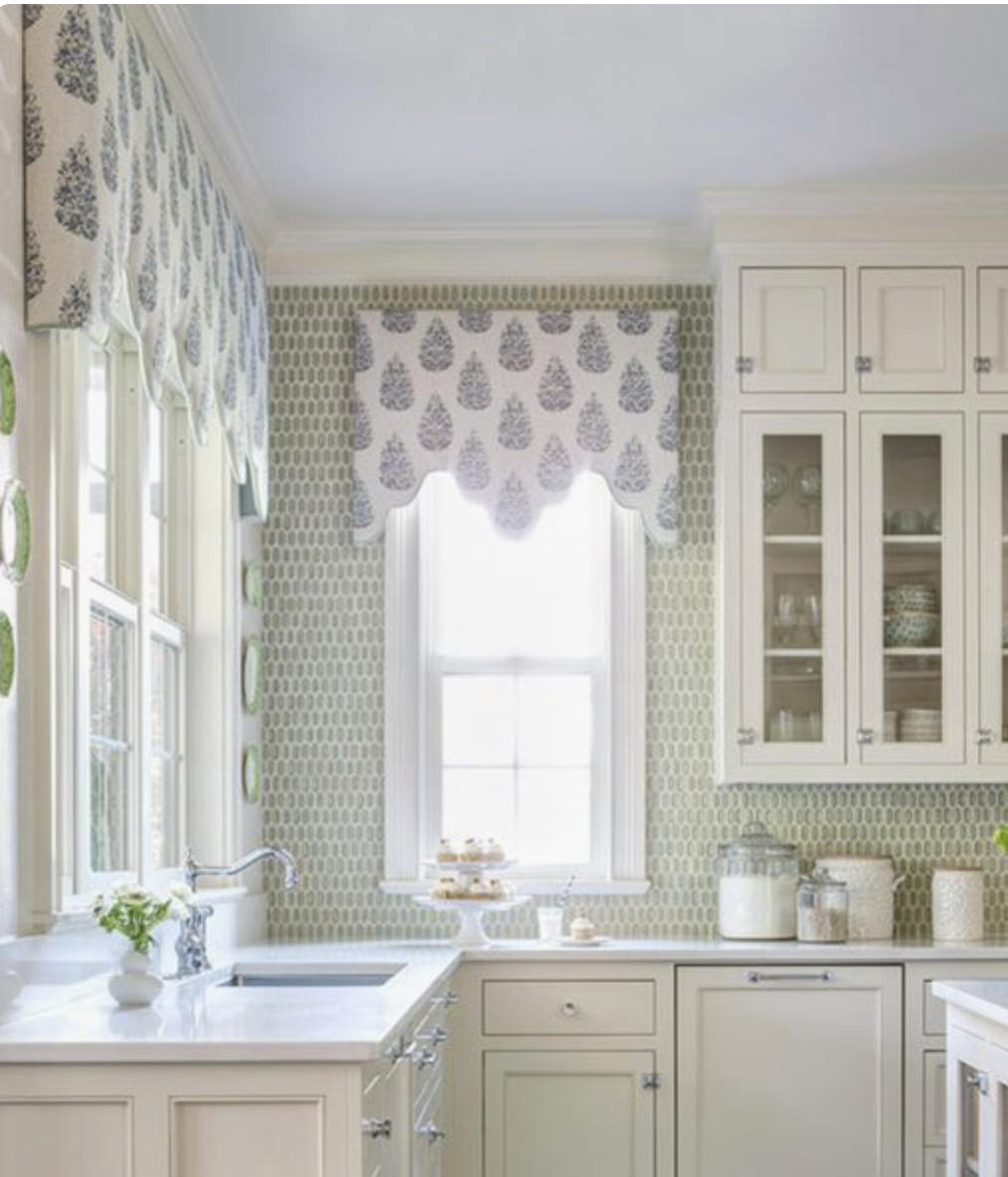 Kitchen Window Valence Custom Fabric window valance custom length ...